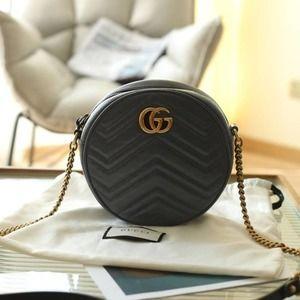 💖✨AUTHENTIC✨💖Guccı Marmont Mini Shoulder Bag Purse Black